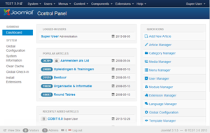Joomla 3 nieuwe functies en templates for Joomla backend templates